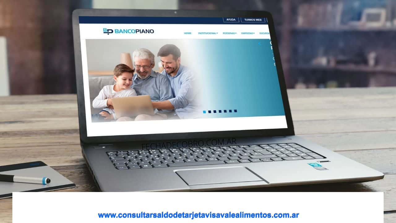 ACCESO Home Banking Banco Piano